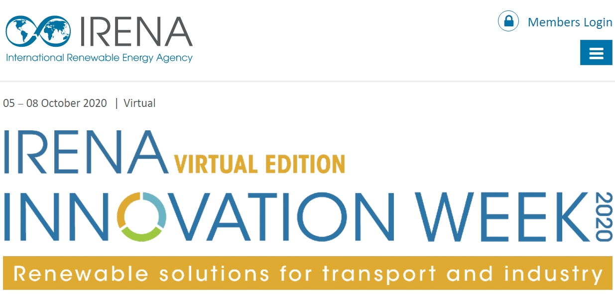 WIP presented the BIOPLAT-EU project in the innovation week of IRENA on 5-8 October 2020.